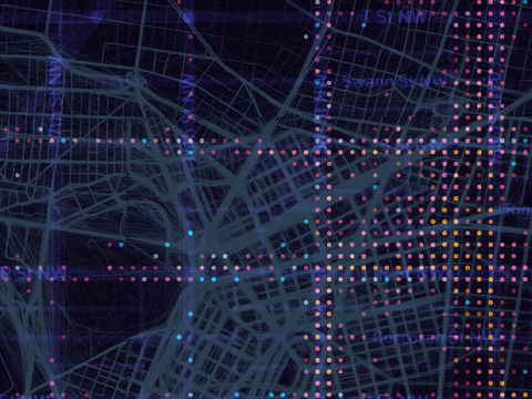 Real-time maps and urban dataviz navigation - opendot